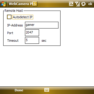 set webcamera to work with wifi config