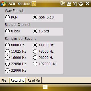 ACR settings