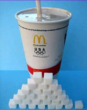mcd drink sugar