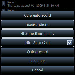 record audio on pda