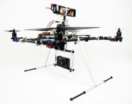 full setup glyder 600 quadcopter